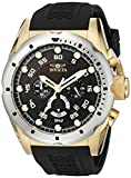 INVICTA MEN'S SPEEDWAY 50MM BLACK POLYURETHANE BAND QUARTZ WATCH 20309