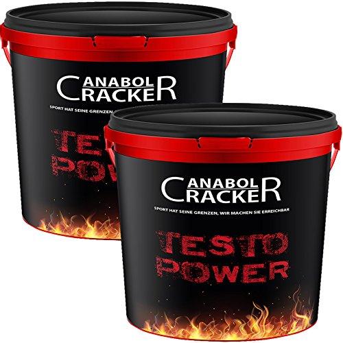 2X Testo Power, Protein Creatin Shake, 5200g Himbeer-Frucht oder Cappuccino Geschmack, Eiweißpulver Muskelaufbau, Sonderangebot Anabol Cracker (HIMBEER FRUCHT UND CAPPUCCINO) - Natürliche Gainer