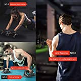 Umi. Essentials Power Push-Up Bar Exercise Stands, Push up Handles 3 in 1 Multifunctional Fitness Ab Wheel Roller with Mats