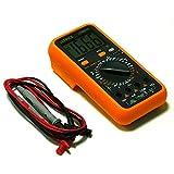 ULTRICS Digital LCD multímetro voltímetro Amperímetro Amp OHM Volt Diodo AC DC Circuito Comprobador de Continuidad Capacitancia Medidor Buzzer con Cables de Prueba FREE