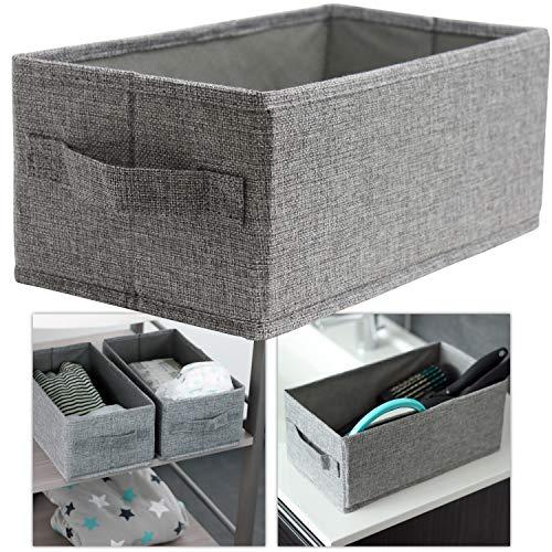 Hausfelder ORDNUNGSLIEBE Badezimmer Korb zur Aufbewahrung - niedriger Aufbewahrungskorb und Aufbewahrungsbox für Utensilien in Kinderzimmer, Bad und Gäste-WC (1 Stück)