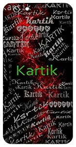 Kartik (Hindu Boy) Name & Sign Printed All over customize & Personalized!! Protective back cover for your Smart Phone : HTC one M-8 ( M8 )