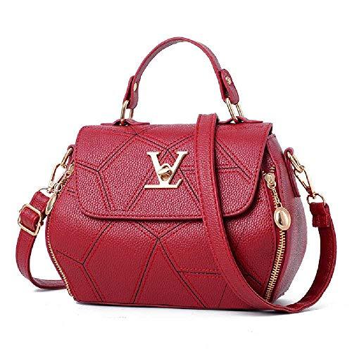 SHUIZAI Handtasche Handtasche, Schultertasche, Kuriertasche 21 * 9 * 18cm/AO Traumschloss Wein rot
