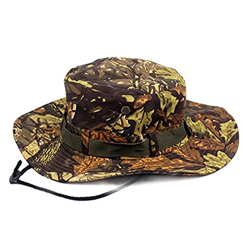 Idopy Outdoor Military Snap Wide-Brim Camouflage Boonie Bucket Hat (3#)
