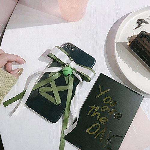 Phone Case & Hülle Für iPhone 6 Plus und 6s Plus Nette Glocke und Bowknot-Band-transparenten schützenden rückseitigen Abdeckungs-Fall ( Color : Apricot ) Green