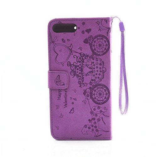 PU Cuir Coque Strass Case Etui Coque étui de portefeuille protection Coque Case Cas Cuir Swag Pour Apple iPhone 7 Plus (5.5 pouces) +Bouchons de poussière (3PP)