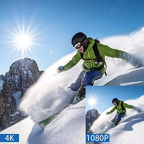 Campark X20 Cámara Deportiva 4k Ultra HD 20MP Pantalla Táctil EIS Anti-Vibración Control Remoto WiFi Camara Acuatica de 40M con 2 Baterías con Kit de Accesorios(Ofertas de Navidad