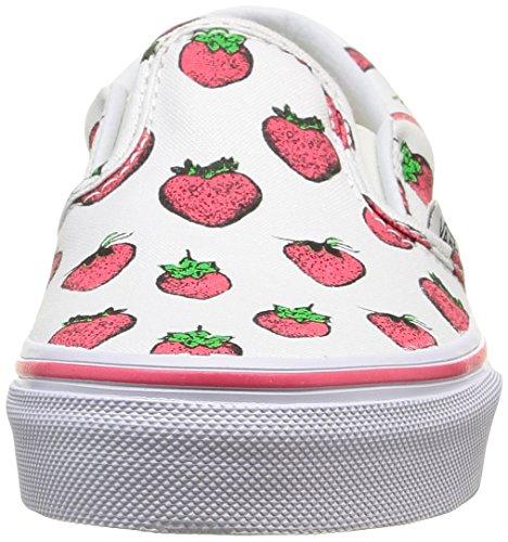 Vans Unisex-Kinder Classic Slip-On Low-Top Weiß (strawberries/true White)
