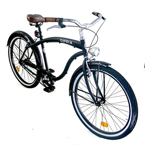 Cicli Gloria Loreto Bicicletta Cruiser 26 Monovelocita Nero Matte