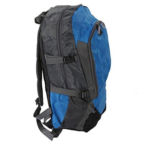Outdoor Reise Rucksack Wasserdicht Nylon Sportrucksack Verschleißfest Wanderrucksack Camping Bag Große Kapazität Blau