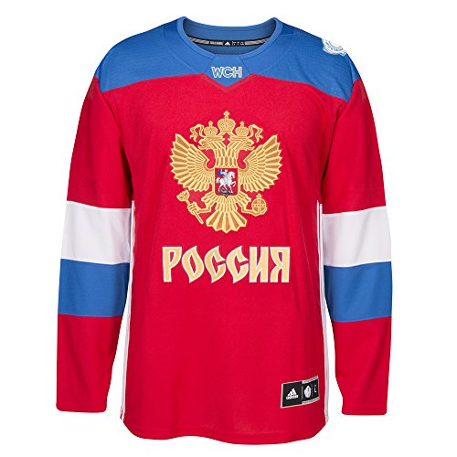 adidas Team Russia 2016 World Cup of Hockey Men\'s Premier Red Jersey Trikot