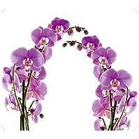 Wenko 2712917500 Placa con motivo Flor de orquídea - para cocinas de vidriocerámica, Vidrio endurecido, 50 x 0.5 x 56 cm