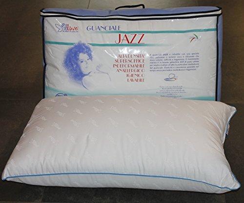 Il guanciale jazz pillove supersoffice alta densita' cuscino in cotone gabardine anallergico lavabile