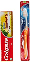 Colgate Cibaca Vedshakti Family Pack - 175 g with Free Super Flexi Tooth Brush