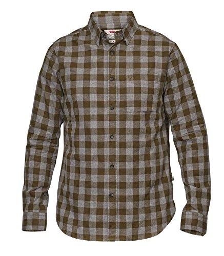 Fjällräven Övik Check Shirt Long Sleeve Men - Outdoorhemd night sky blue