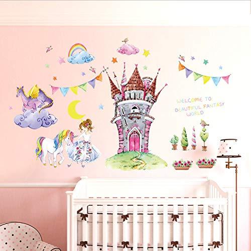 s Schlafzimmer Kindergarten Kinder Mädchen Zimmer Vinyl Umweltfreundliche Entfernbare Wandaufkleber Dekoration Kunst Wandbilder Wandtattoos ()