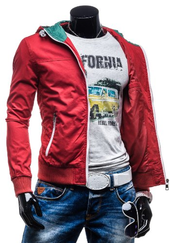 GLO STORY – Veste à capuche – Jacket – GLO STORY 4583 – Homme Rouge