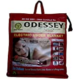 ODESSEY Electric Blanket (SINGLE BED) 75X150 CMS, 1 YRS WARRANTY, WHO-GMP CERTIFIED