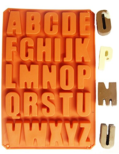 26 Letters Alphabet Pudding Silicone Bakeware Mould Cake Mold Chocolate Ice Maker by H4F (Und Klinge Die Ist Tray)