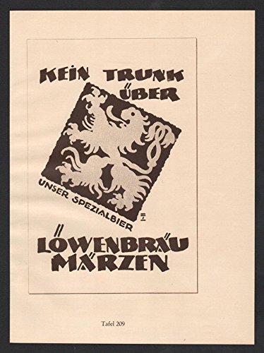 ludwig-hohlwein-reklame-werbung-plakat-lowenbrau-goldsiegel-hute-hut