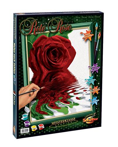 Schipper 609130521 609130521-Malen nach Zahlen-Rote Rose, 40x50 cm