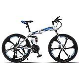 Unisexe Acier à Haute teneur en Carbone Vélo Pliant 21/24/27 Vitesse Vélo de...