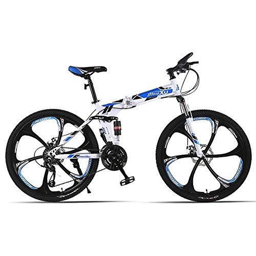 Unisexe Acier à Haute teneur en Carbone Vélo Pliant 21/24/27 Vitesse Vélo de Montagne à Double...