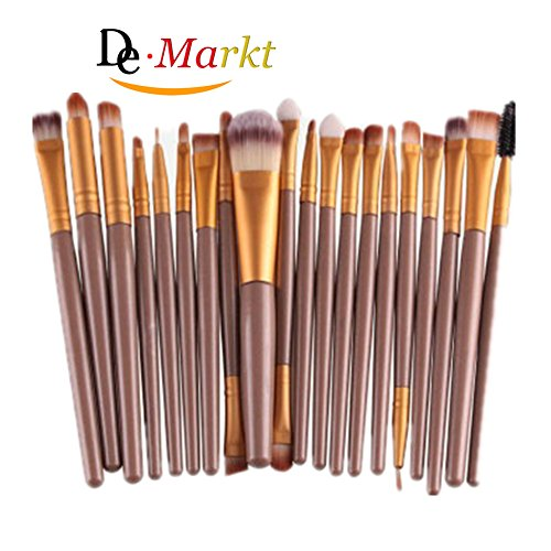 Demarkt 20 Stück / Set Make-up Pinsel-Set (Golden)