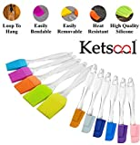 Ketsaal Silicone Spatula And Pastry Brush Set For Cake Mixer, Cooking, Baking, Glazing, Yellow