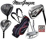 Macgregor Antwort Deluxe Herren Stahl Golf Set & TP12018Stand Bag Herren Rechte Hand