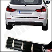 BMW X1 E84 aus echt Carbon Verarbeiteter Edelstahl Chrom Ladekantenschutz