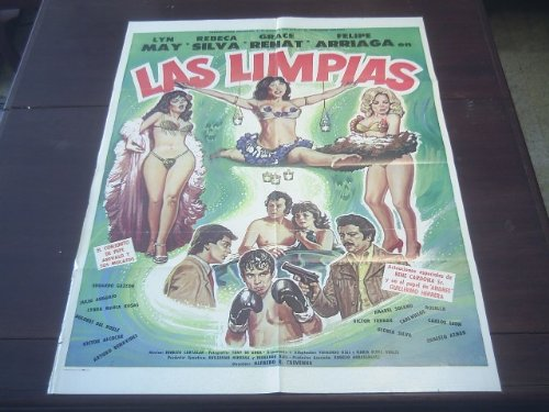 Original Mexican Movie Poster Las Limpias Lyn May Rebeca Silva Alfredo B. Crevenna