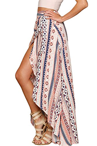 ethnic-print-wrap-maxi-skirt-beach-wear-cover-up-festival-size-8-14