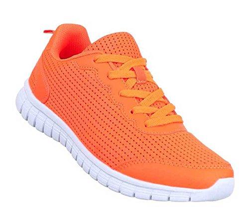 Damen Freizeitschuhe Schuhe Sneaker Low-top Sneakers Orange 39