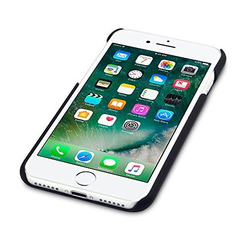 iPhone 8 / iPhone 7 Case, Terrapin Gummiertes Hardskin Hülle für iPhone 8 Hülle Schwarz Schwarz