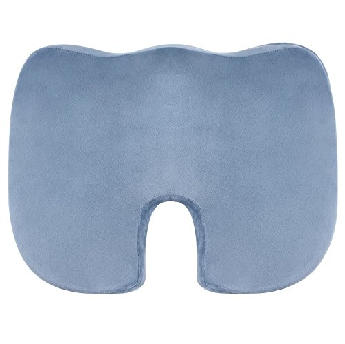Vector Orthopedic Memory Foam Seat Cushion for Back Support, Sciatica Relief, Tailbone, Coccyx & Hip Pain - Ideal for Office Chair, Car Seat Pillow & WheelChair. Also used as Seat Booster. Best Present For Your Health!