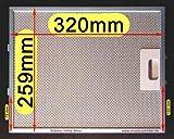 Premium Metall-Fettfilter 320 x 259 (260) MI051 für Dunstabzugshaube. Bessere Qualität, 10-lg. Metallfilter.