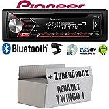 Autoradio Radio Pioneer DEH-S3000BT - Bluetooth   CD   MP3   USB   Android Einbauzubehör - Einbauset für Renault Twingo 1 - JUST SOUND best choice for caraudio