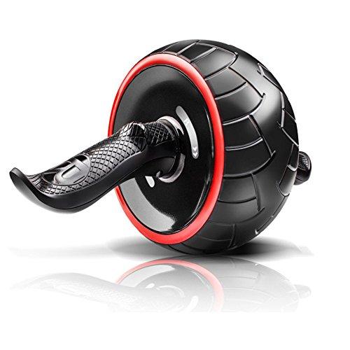 Lisansang Ab Roller-Rad-Übungsgerät Ab Roller Roller Wheel für Core Training Foam behandelt Bauchmuskeltraining und bestes Bauchmuskeltraining Ab-Rad-Übungsgerät, Ab-Rad-Roller für Heimtrainer,