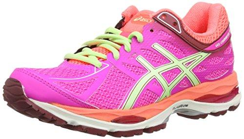 AISCS Gel-Cumulus 16, Chaussures de Running Femme - Blanc (White/Hot Pink/Black 120) - 37.5 EU (Taille Fabricant : 4.5 UK)