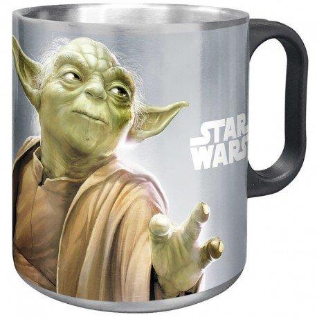 Taza acero inoxidable Star Wars Darth Vader Yoda surtido
