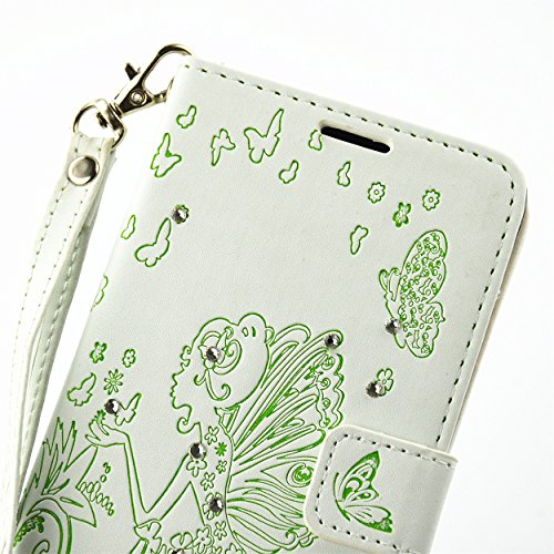 für Smartphone P9 Lite Hülle,Hochwertige Kunst-Leder-Hülle mit Magnetverschluss Flip Cover Tasche Leder [Kartenfächer] Schutzhülle Lederbrieftasche Executive Design +Staubstecker (7AA) 8
