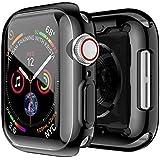 جراب Smiling Case for Apple Watch Series 4 & Series 5 مع واقي شاشة شفاف من البولي يوريثان اللدن بالحرارة 44 مم - جراب واقٍ عا