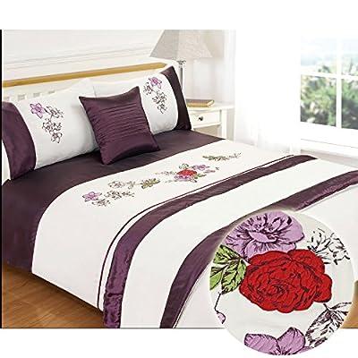 Just Contempo Floral Duvet Bedding Set, 5 Pieces
