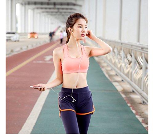 Light Grey Reggiseno sportivo traspirante Yoga asciugatura rapida Fitness supera le donne di colore solido Rosa