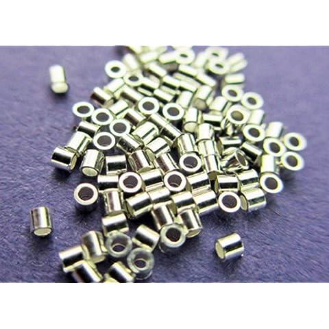 NUEVO 1mm Plata de ley 925micro/mini Crimp tubo 200pcs