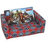 Marvel Avengers Childrens Flip Out Double Foam Sofa Settee Seat