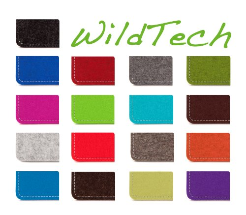 WildTech Sleeve für Apple iPhone 7 Plus / 6S Plus / 6 Plus Hülle Tasche - 17 Farben (made in Germany) - Hellgrau Natur-Meliert