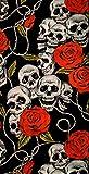 PI Wear Schlauchschal Skulls & Roses - Stilvoller Schutz vor Wind und Wetter