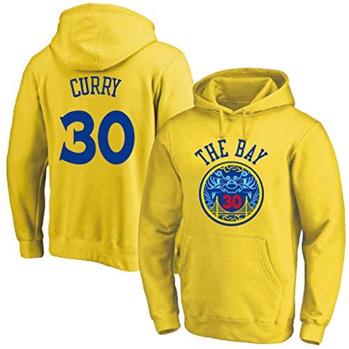 Golden State Warriors Stephen Curry #30 Hoodie Youth Herren Name & Number Fashion Sweatshirt Yellow Youth Hoodie
